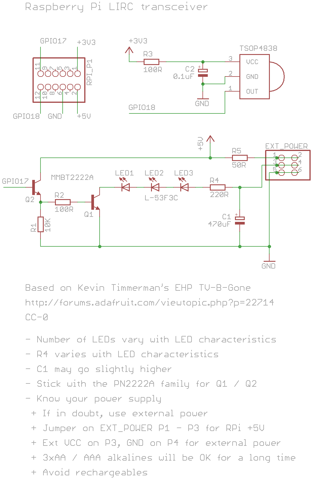 Raspberry Pi Lirc Rpi Ir Remote Control Gpio Driver And Simple Circuit Transreceiver Schematic